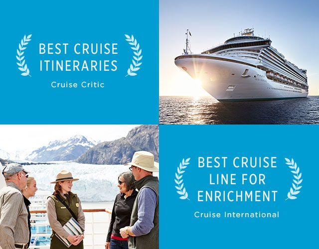 Best Cruise Itineraries accolade from Cruise Critic. Best Cruis Line for Enrichment accolade from Cruise International.