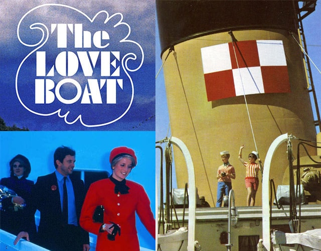 """The Love Boat"", Princess Diana at the Christening of ship, and historical photo on ship"