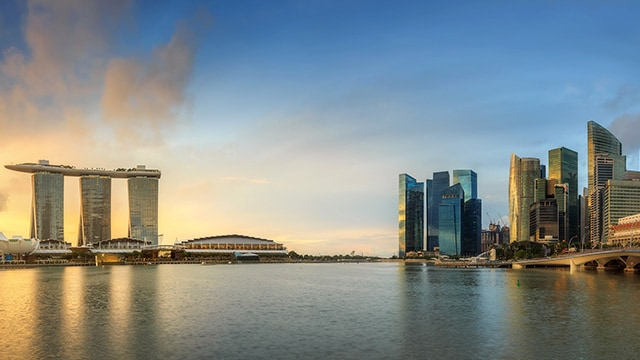 View of Singapore skyline