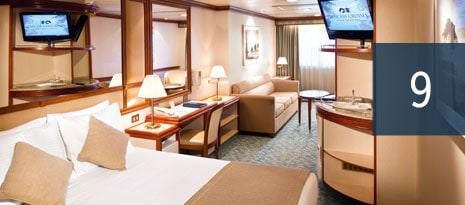 9 - example of mini-suite stateroom