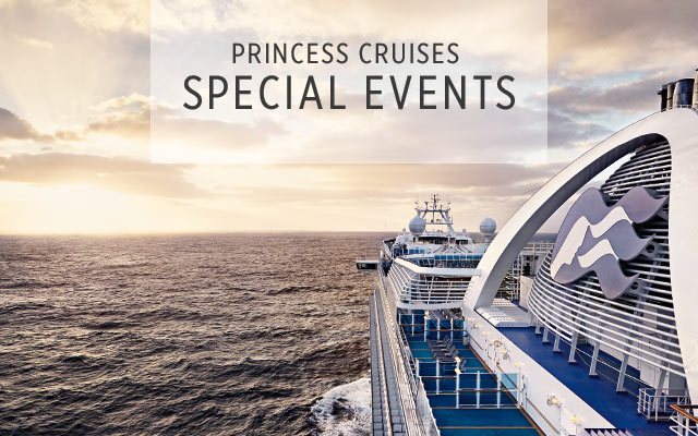 princess cruises special events - view from behind of ship at sea