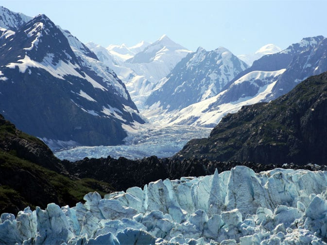 Peter's view of Glacier Bay, National Park from the shp