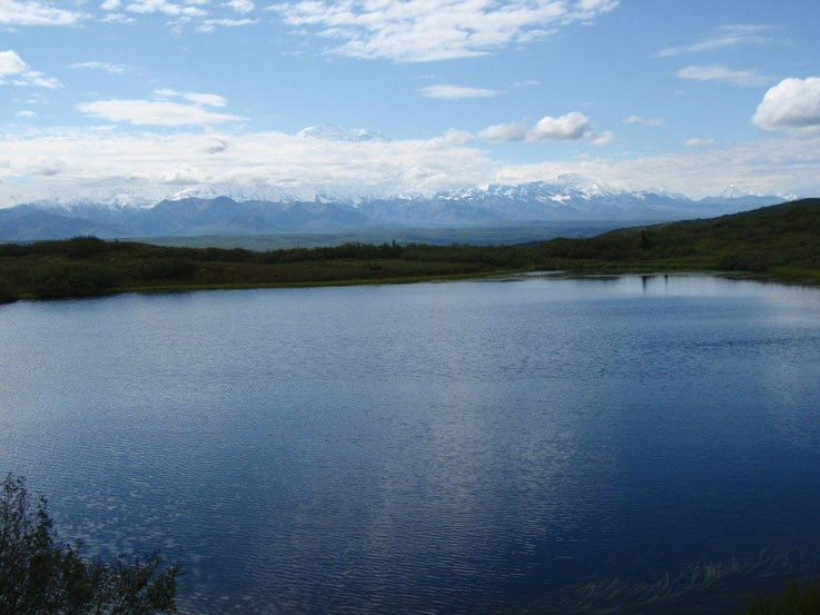 Wonder Lake, at the end of the road to Kantishna in Denali National Park & Preserve