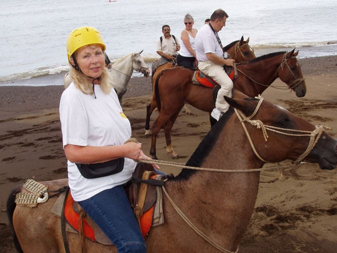 Sandra on a horseback riding excursion in Costa Rica