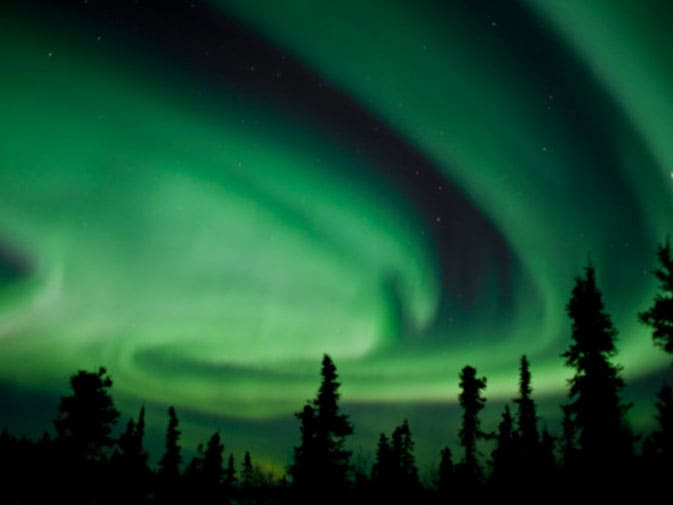 Northern Lights As Seen From Fairbanks, Alaska