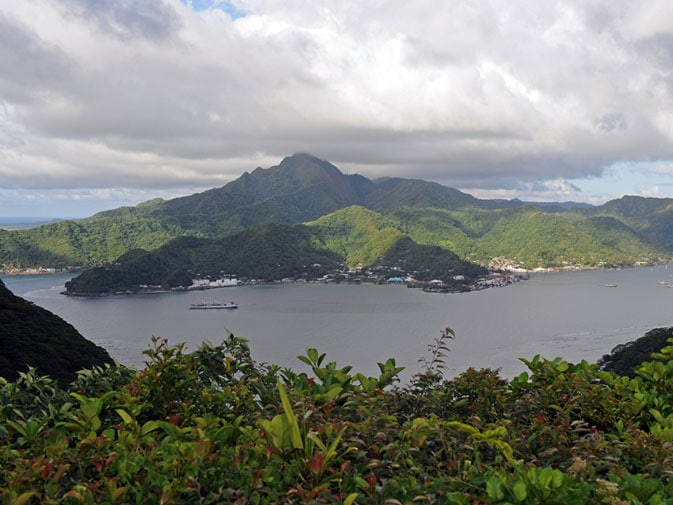 Matafao Peak above Pago Pago Harbor