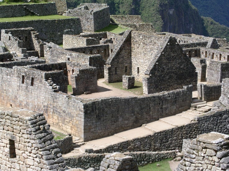 View of Machu Picchu, the hidden city of the Incas
