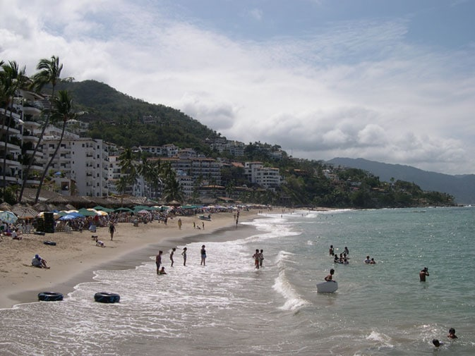 Dick's view of Playa de Los Muertos in Puerto Vallarta