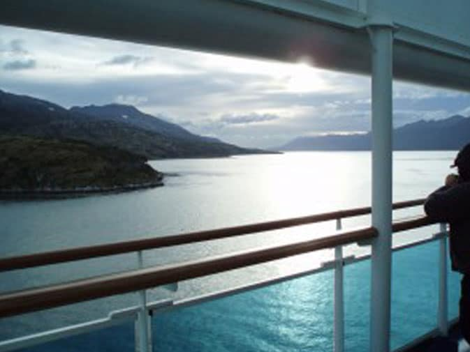 Sailing through South American Fjords on Princess