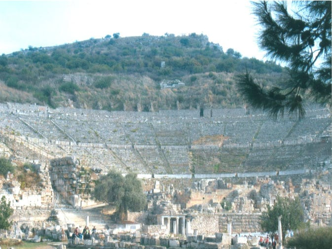Rich with history, the theater at Ephesus
