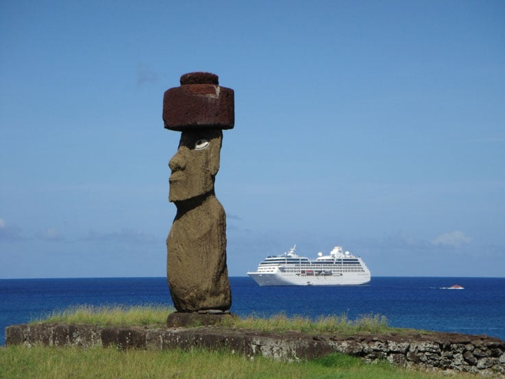 Melania's favorite Moai in Easter Island
