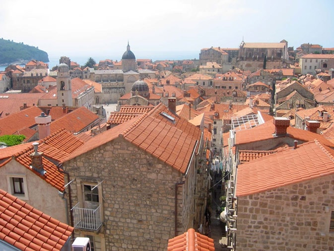 Red rooftops of Dubrovnik, Croatia