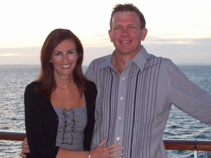 Barb and Mark got engaged aboard Diamond Princess