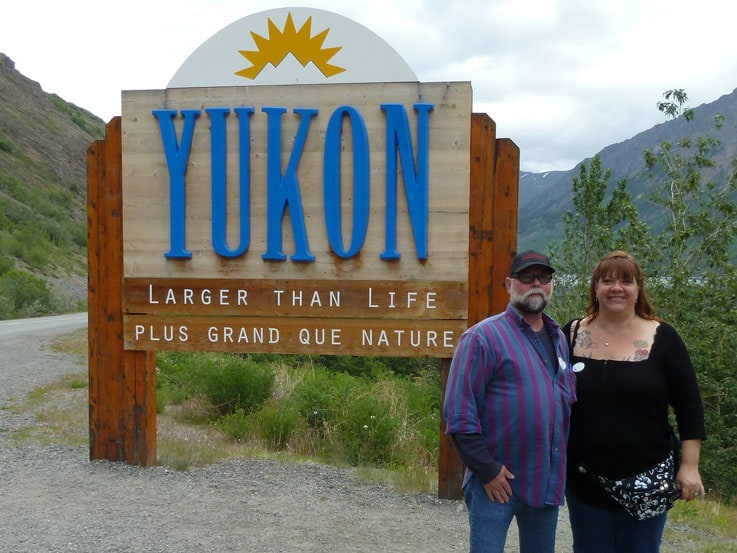Noreen and her husband, Rick, in the Yukon