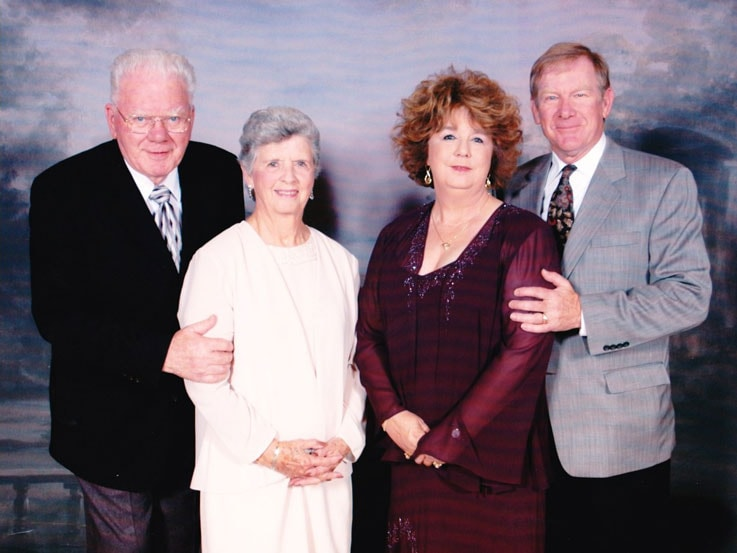 Barbara, second from right, her husband Jim, and her parents, Frances and Harvey Goerlitz