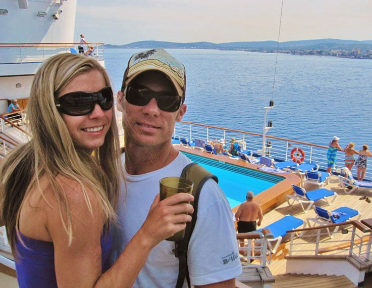 Alanna and Brian aboard Star Princess in Khios, Greece