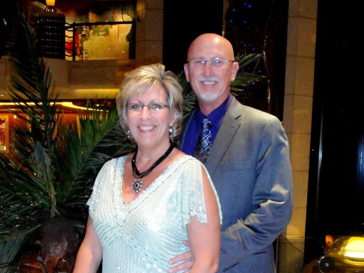 Debbie and Ron aboard Emerald Princess