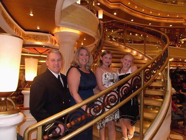 The Wilson family aboard Ruby Princess