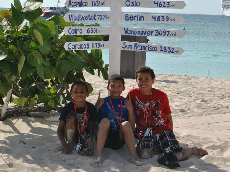 Tyrone's boys on Princess Cays
