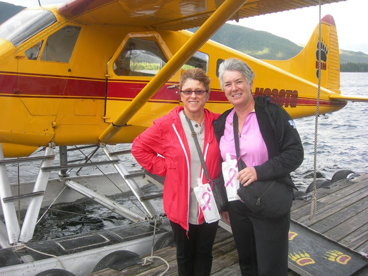Nancy and Kay on their seaplane ride to Misty Fjords