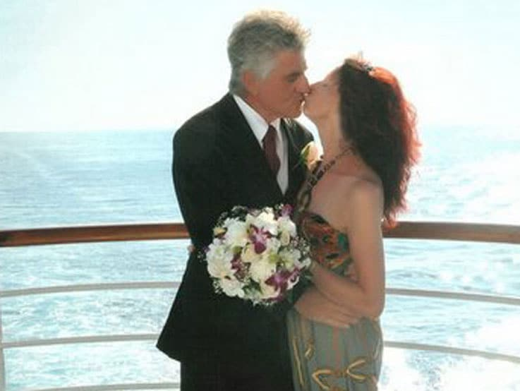 Terri and Geoff during their vow renewals