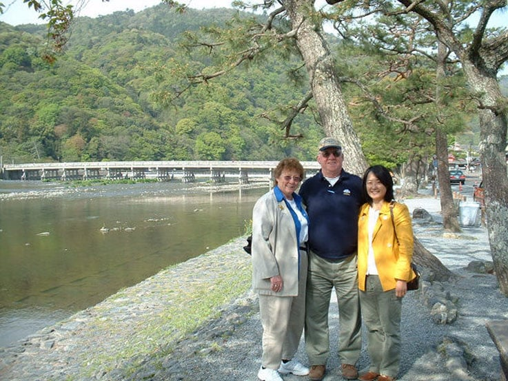 Richard and Shannon with Yoko in Kyoto, Japan