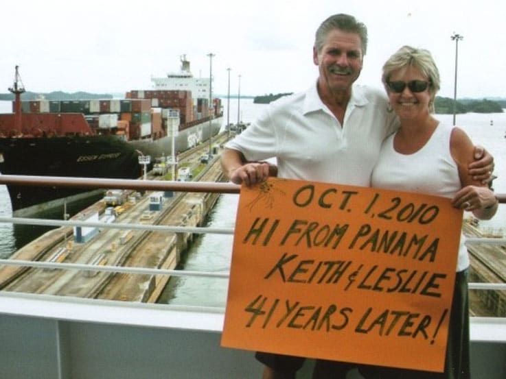 Back in the Panama Canal 41 years later