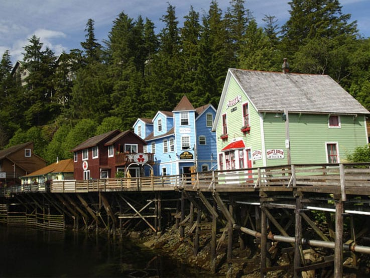 The famous Creek Street in Ketchikan, Alaska