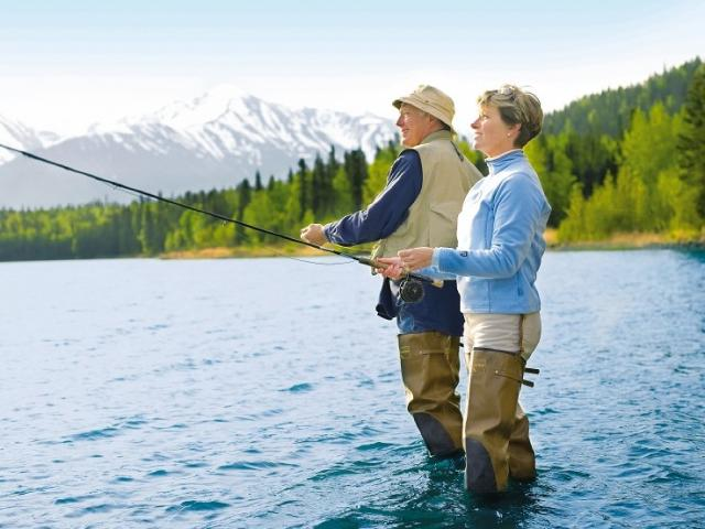 Fly fishing is one of the top three things to do when you're in Alaska.