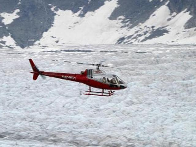 Helicopter tour for flightseeing in Juneau, Alaska.