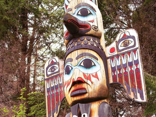 When you're in Ketchikan, Alaska, don't forget to view the world's largest collection of totem poles.