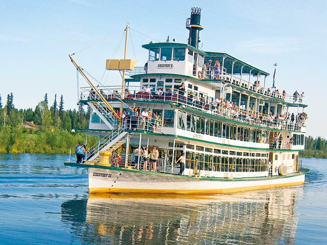 The Riverboat Discovery on the Chena River in Fairbanks is the last remaining riverboat that represents the iconic steam-driven riverboats that changed river transportation in Alaska. This is just one of several alternative forms of transportation.