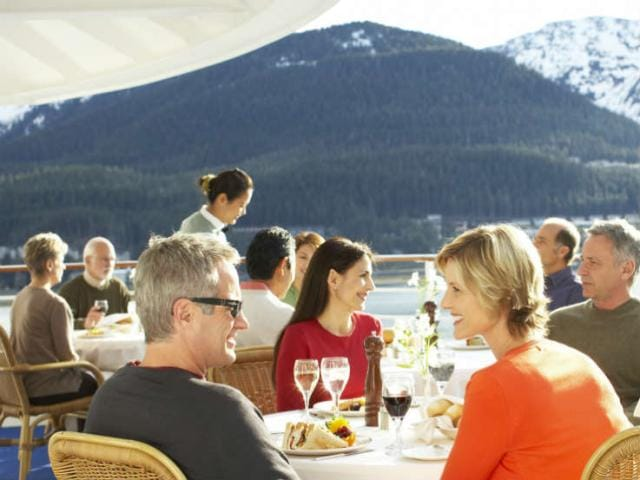 Find the best restaurants featuring Alaskan food in the Inside Passage coastal towns of Juneau, Skagway, and Ketchikan.