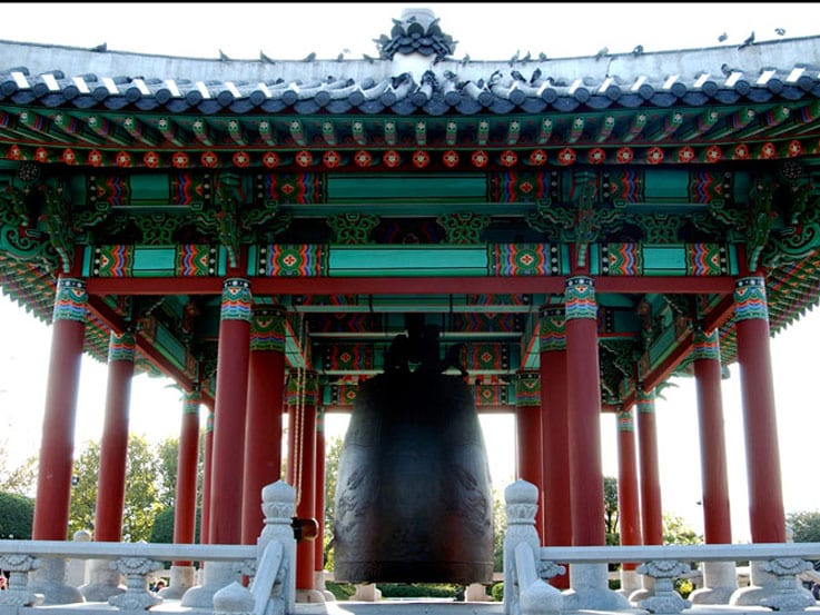 The Temple Bell in Busan, South Korea
