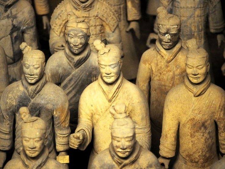 The Terracotta Warriors from the Qin dynasty