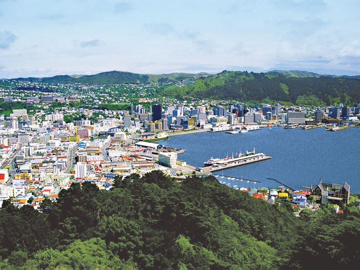 Harbor view of Wellington, New Zealand