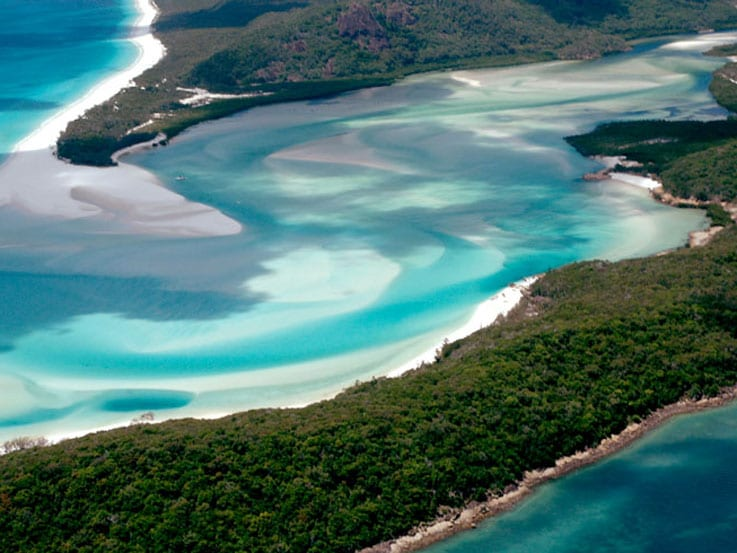Great barrier reef aerial view, Queensland Australia