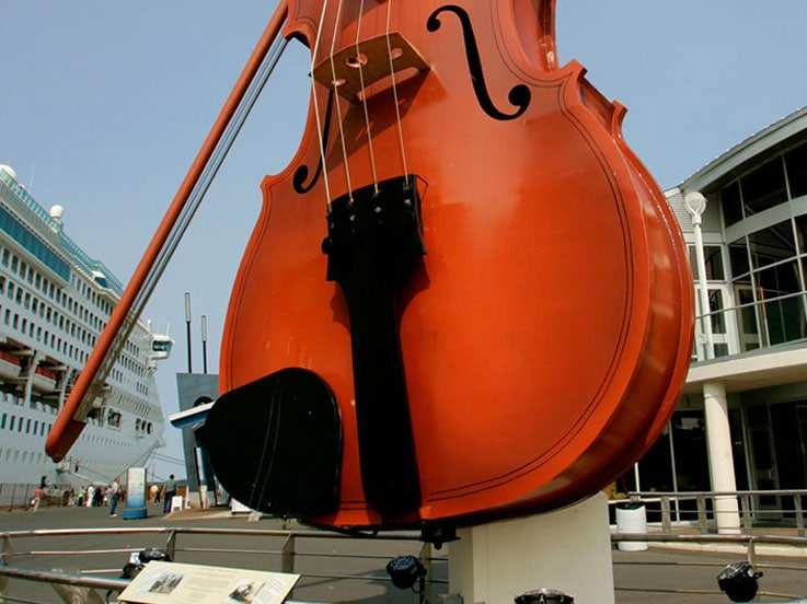 The famous Sydney Violin in Sydney, Nova Scotia
