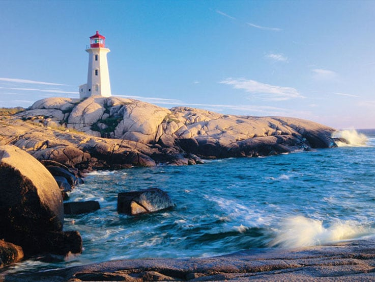 Peggy's Cove lighthouse in Halifax, Nova Scotia