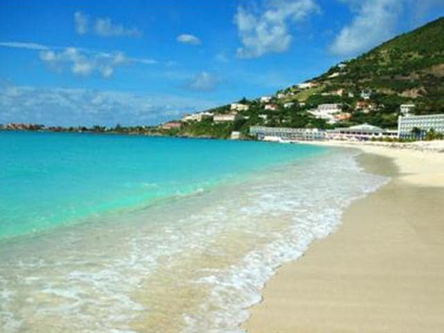 On Caribbean vacations, you'll have your choice of beautiful beaches, such as this one in St. Maarten.