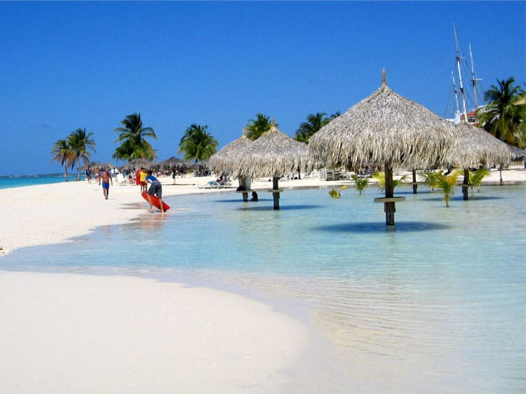 View of Aruba's pristine water