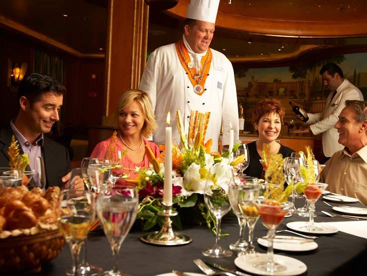 Golden Princess, Chefs table dining