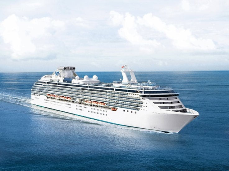 Island Princess at Sea