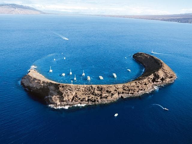 Snorkeling around Molokini is a great way to experience this volcanic crater.