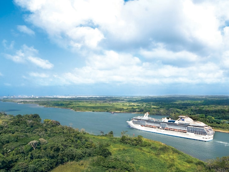 Panama Canal cruises offer a close-up view of the modern marvel of the Panama Canal.