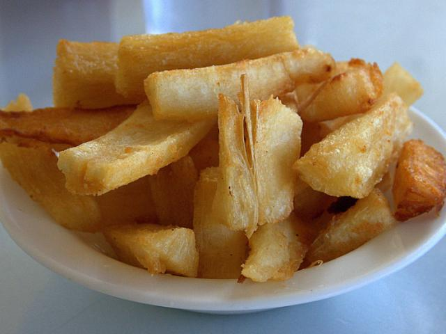 When you cruise Panama canal, you'll be invited to sample such rich Panamanian cuisine as yuca frita.