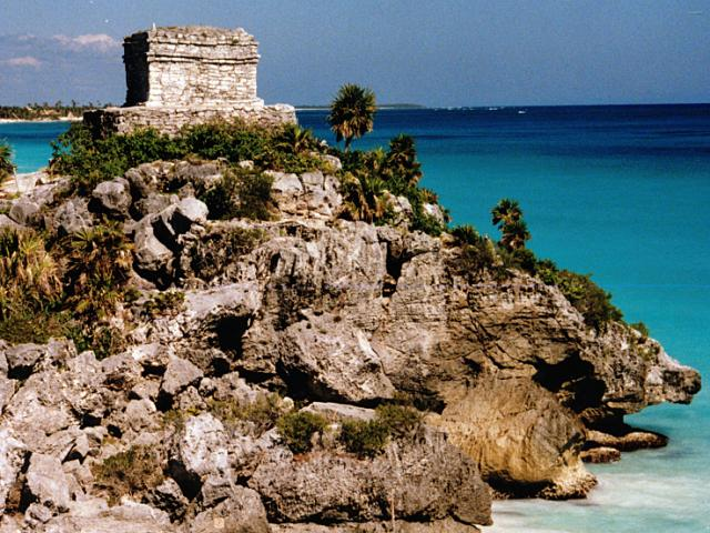 The Mayan ruins at Tulum, Mexico, are near the port of Cozumel and accessible by a Princess Cruises Western Caribbean getaway.