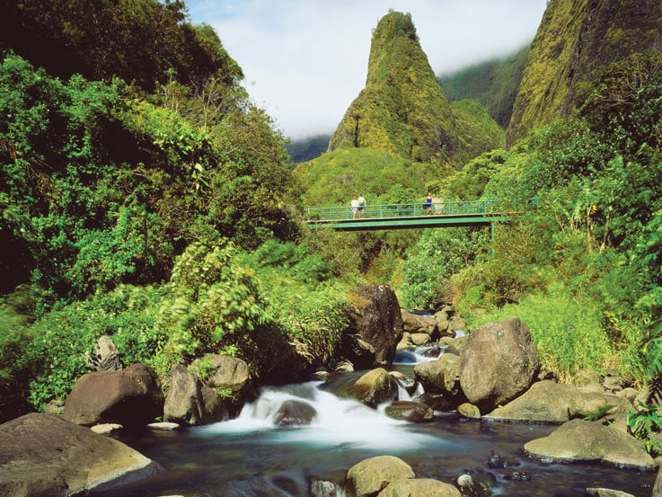 Iao Valley State Park in Maui Island, Hawaii