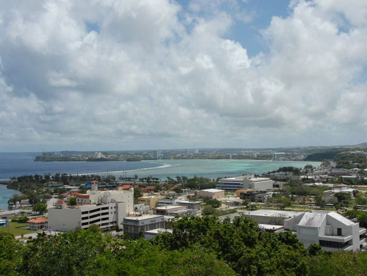 View of coast of Guam, Mariana Islands