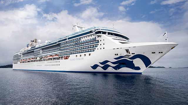 Island Princess cruise ship at sea